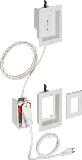 TV BRIDGE II Kit. Non Metallic prewired, preassembled box kits. With SIngle gang boxes.
