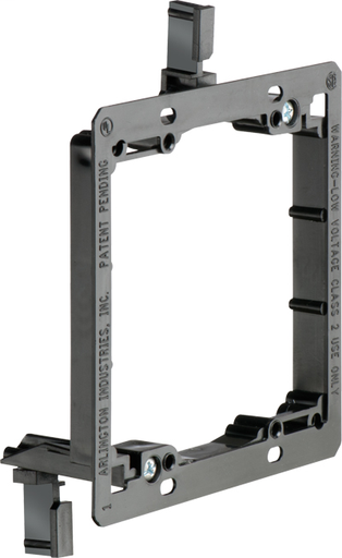 Low Voltage mounting bracket, two gang for installation on existing construction for class 2 wiring only. (ARL LV2 2 GANG LOW VOLTAGE PLATE)