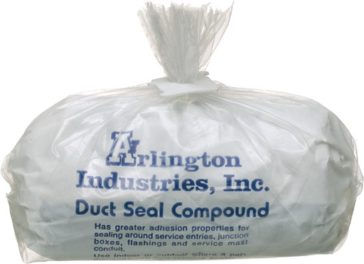 Duct seal compound. asbestous free, non-drying, non-toxic permenatly soft. 1lb
