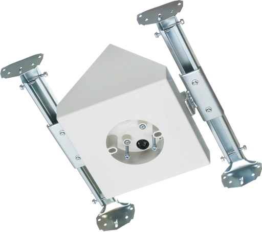 "Mayer-Fan and fixture mounting box for new construction. Fits catheadral ceilings up to 80 degrees or larger. 70lb, 200lb fixture. Paintable textured finish. 14.5 cu. 8"" square mounting surface handles fans with larger canopies. Expandable bracket holds box securely between joists.-1"