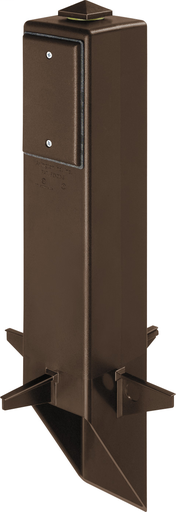 """Gard-N-Post. 19.5"""" support for outdoor light fixtures or GFCI devices outdoors. Opennings on both sides of post for back to back power or power on one side and low voltage on the other. Built in stablaizers need to assembly. Opennings in stabalizers allow"""