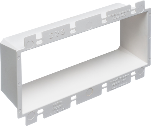 Mayer-Box Extender, levels and supports the wiring device where the box is set back from the wall surface extends the box up to an 1-1/2. 2 hour fire rating. four gang.-1