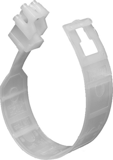 """Arlingtons The Loop. Hanger for communications cable, fiver optic cable and any low voltage cable. Versatile mounting, rotates to any angle. Can be stacked perpendicular or parallel. Loop size is 2-1/2"""". Listed for use in enviornmental in use spaces."""