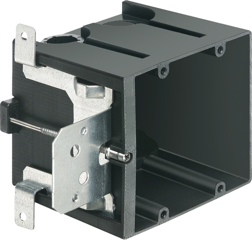 """Non-Metallic box for new construction. Adjustable for wall thicknessess from 1/4"""" to 1-1/2"""". Two Gang, Vertical, 43.5 cu. (ARL FA102 SCREW MNT 2G ADJ DP)"""
