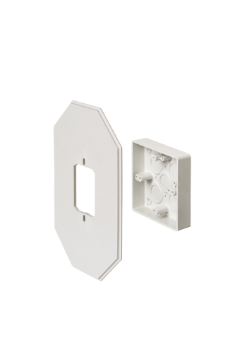 Works on all siding types. Before or after siding is up, Mounting holes on inside of box. Textured paintable surface. NM cable connector provided. 6-1/2 x 10-1/2 mounting surface. Provides a .895 J-channel. 15-1/2 cubic inch box.