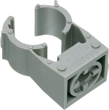 "Strut Clip for conduit on Arlingtons non metallic quicklatch pipe hangers. For 2-1/2"" Rigid, 2-1/2"" EMT, 2-1/2"" Liquid Tight, 2-1/2"" Flex."