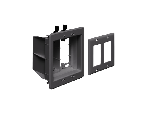 Recessed Plastic TV BOX. For new or existing construction. Comes with low voltage divider. Color. Black