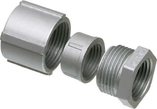 """1/2"""" three peice coupling for rigid and IMC, Zinc die-cast, Trade Name - Erickson Coupling"""