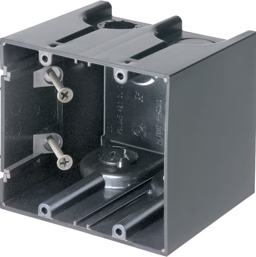 One Box Non-Metallic outlet boxes. Two Gang. Vertical. 41.3 cu. (ARL F102 2 GANG SCREW MT DEV BX)