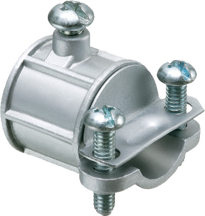 """Combination coupling. 1/2"""" EMT to non metallic sheet cable. Zinc Die-cast. Trade Size 1/2"""". Cable Range .250 to .612"""