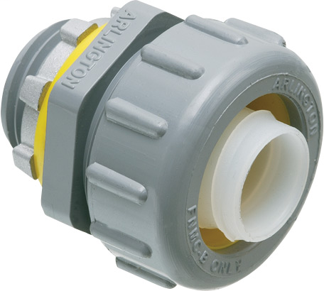 """Mayer-Non Metallic straight connector for use with non metallic liquid tight conduit type B only. 3/4"""" Trade Size.-1"""