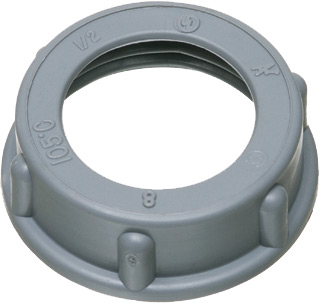 """Mayer-1"""" Plastic insulated bushing with a temperature rating of 105 degrees celcius-1"""