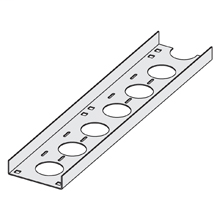 "Mayer-CHANNEL CABLE TRAY STRAIGHT SECTION, VENTILATED, 4"" WIDTH, 144"" (12 FT) LENGTH, ALUMINUM-1"