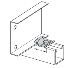 """Mayer-CABLE TRAY CLAMP/GUIDE, 2 1/4"""" OVERALL LENGTH, WITHOUT HARDWARE, ZINC PLATED-1"""