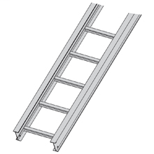 """BLIN 36A09-12-144 CABLE TRAY 12'12""""W 9"""" RUNG SPACE"""