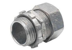 Connector, Compression, Zinc Die Cast, Size 1/2 Inch