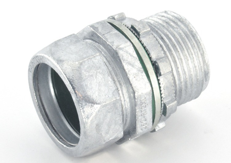 """1"""" Raintight Compression Connector with Extra Long Threads"""