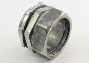 Connector, Compression, Zinc Die Cast, Size 2 In
