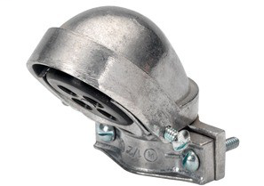 Mayer-Entrance Cap, Clamp-On, Aluminum, Size 4 Inch-1