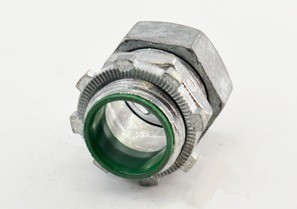 Connector, Compression, Zinc Die Cast, 105°C Insulated Throat, Size 3/4 Inch