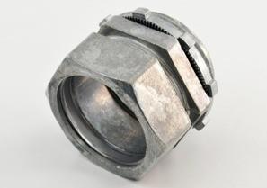 Connector, Compression, Zinc Die Cast, Size 1 1/4 Inch