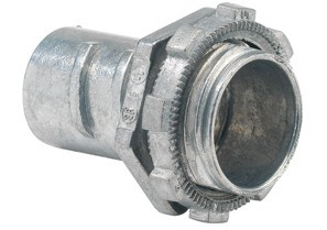 Connector, Screw-In, Zinc Die Cast, Flex Size 1/2 Inch