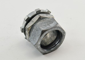 Connector, Compression, Zinc Die Cast, Size 3/4 Inch