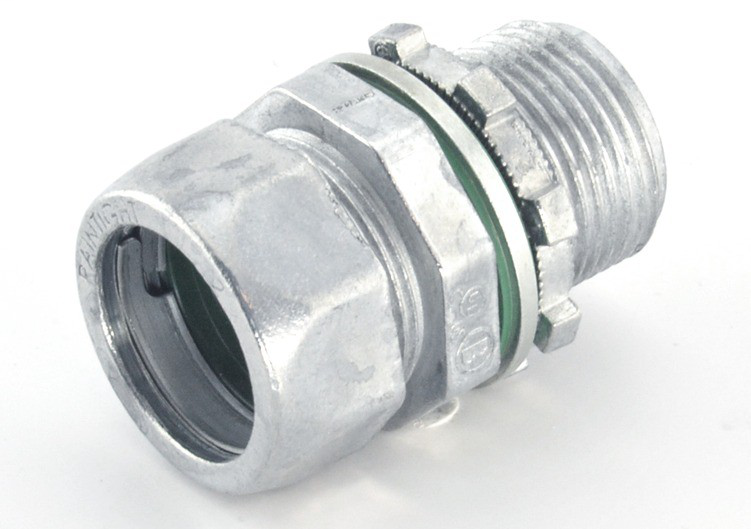 """3/4"""" Raintight Compression Connector with Extra Long Threads"""