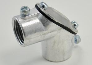 "Mayer-Aluminum 1/2"" Set Screw Coupling Pull Elbows-1"