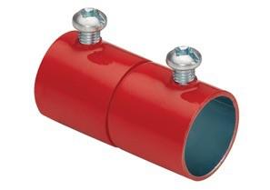 """BRGF 241-SR 3/4"""" S/S EMT CPLG FIRE ALARM RED"""