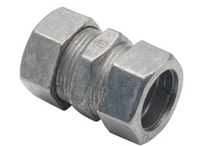 Coupling, Compression, Zinc Die Cast, Size 3/4 Inch
