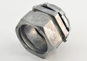 Connector, Compression, Zinc Die Cast, Size 1 1/2 Inch