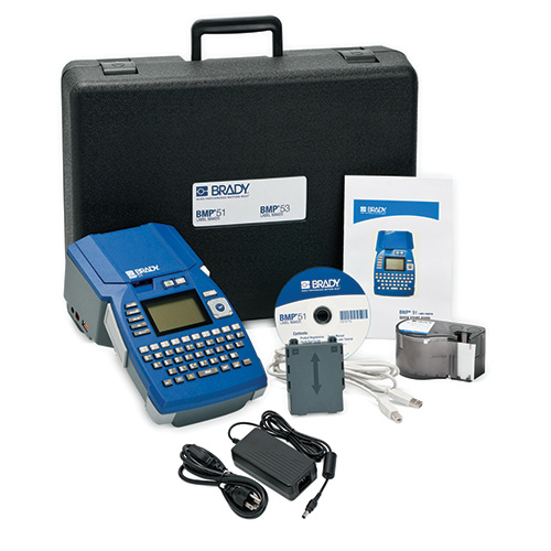 BRADY WIREMARKERS BMP51 Label Printer with AC Adaptor