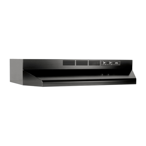 """BRO 413623 36"""" NON-DUCTED RANGE HOOD BLACK WITH CHARCOAL FILTER"""