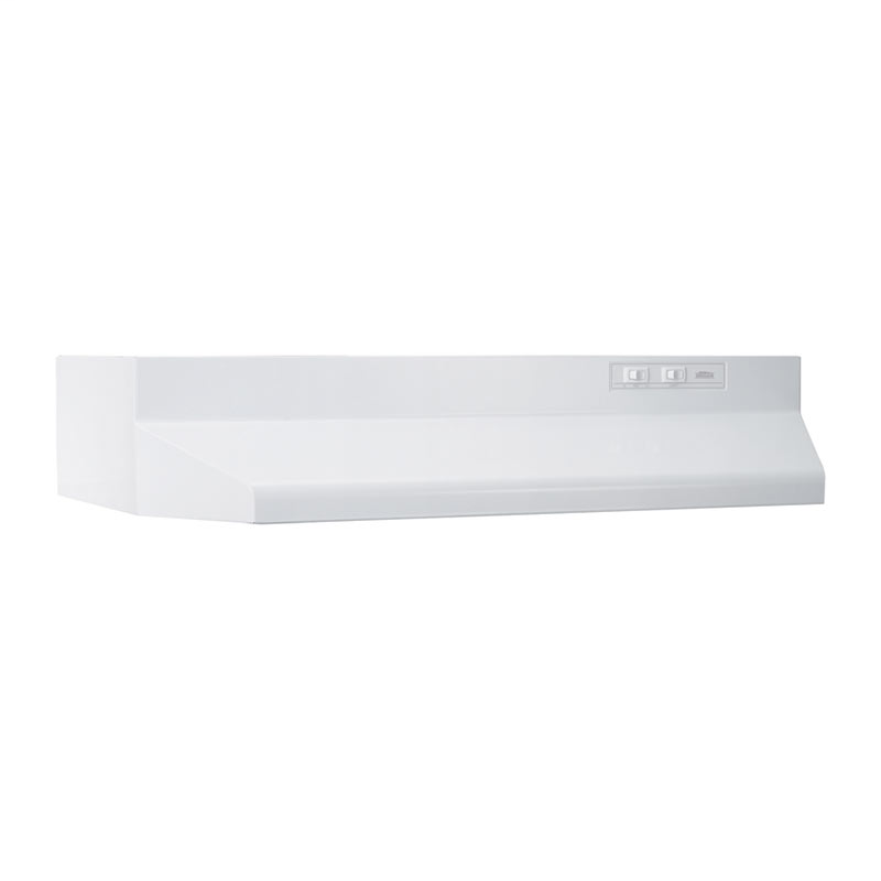 Broan 412101 White Non-Ducted Range Hood