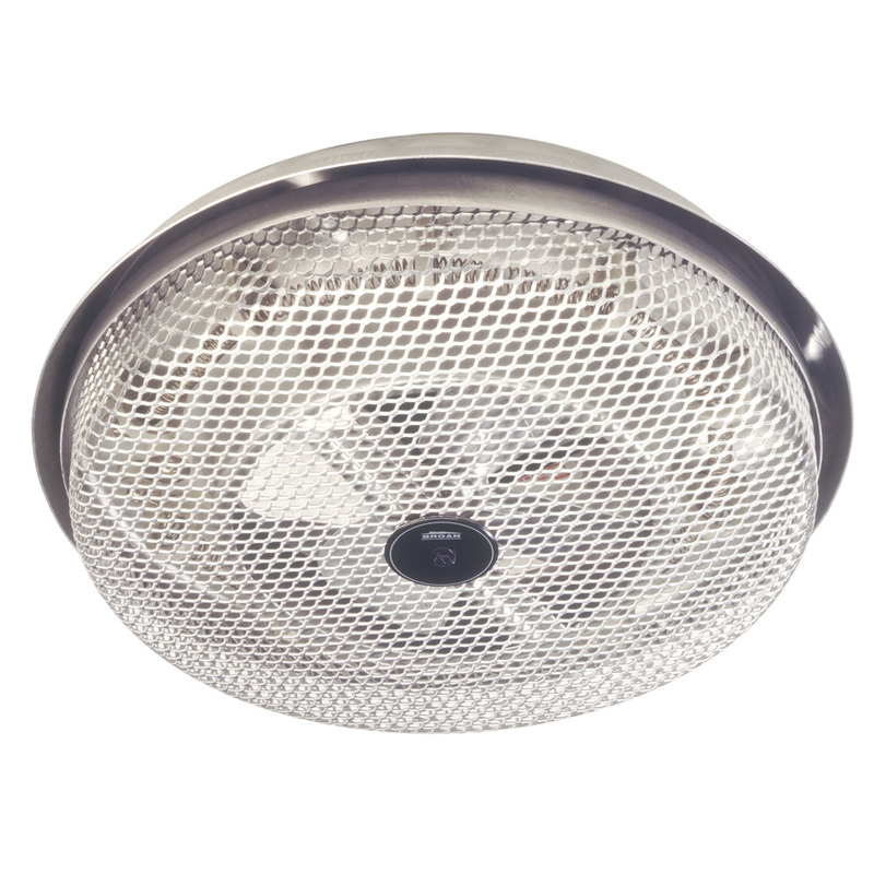 BROAN Fan-Forced Ceiling Heater, Aluminum; Low-profile , Enclosed Sheathed Element, 1250W, 120VAC.