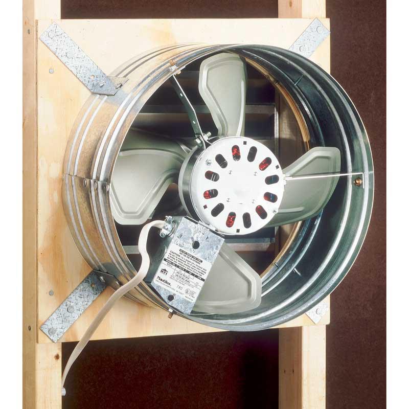 Broan 353 3.4 Amp 120 VAC 1020/760 CFM Galvanized Steel Gable Mount Attic Ventilator