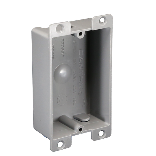 Mayer-1-Gang 8 cu. in. EZ BOX Shallow New Work Nail-on Residential Electrical Switch and Outlet Box with Flange-1