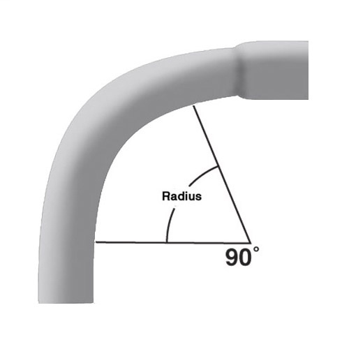 1 in. x 90-Degree x 24 in. Radius Bell End Schedule 40 Special Radius Elbow