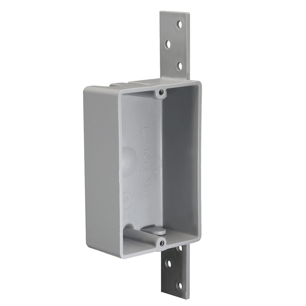 1-Gang 8 cu. in. EZ BOX Shallow New Work Nail-on Residential Electrical Switch and Outlet Box with Bracket