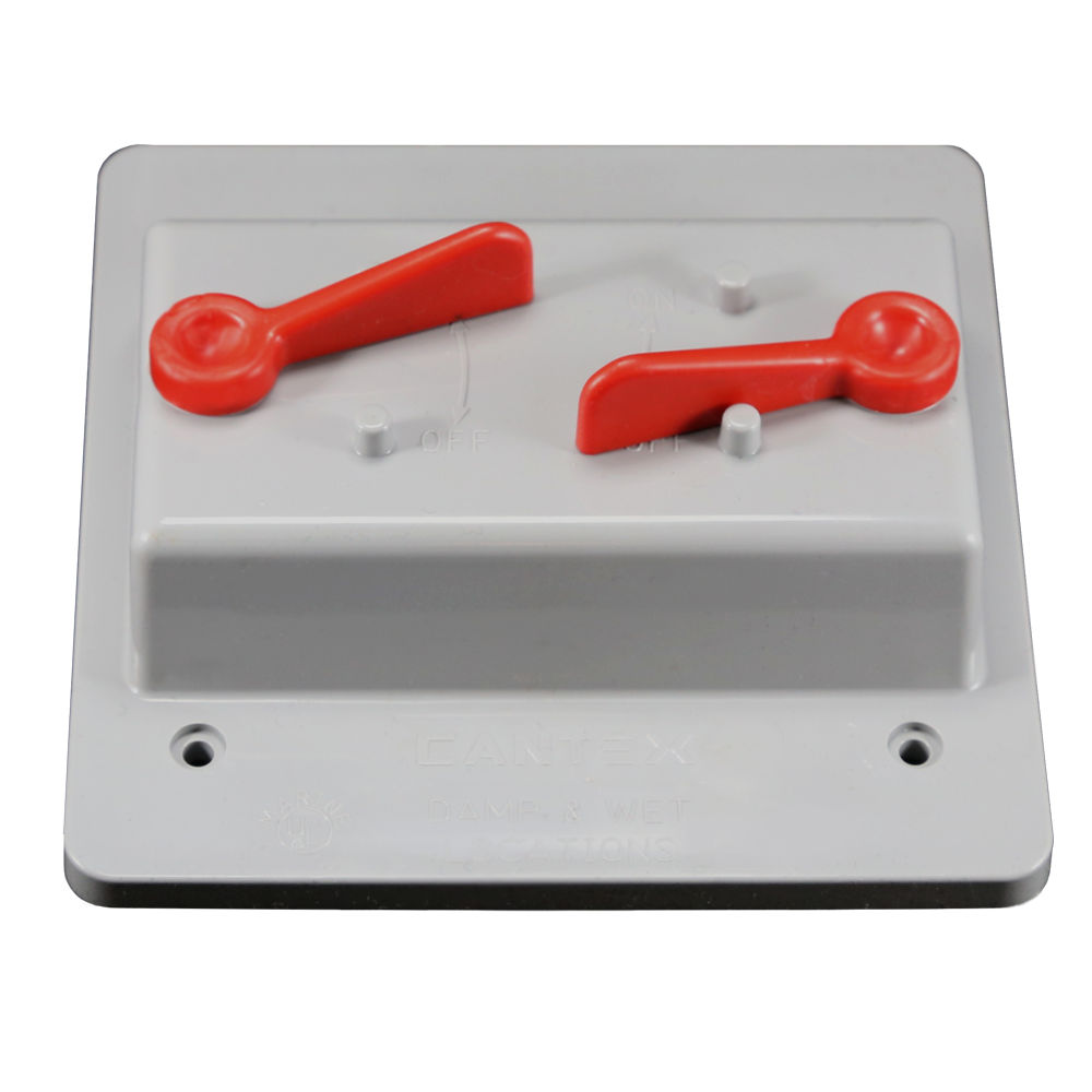 2-Gang Weatherproof Toggle Switch Cover