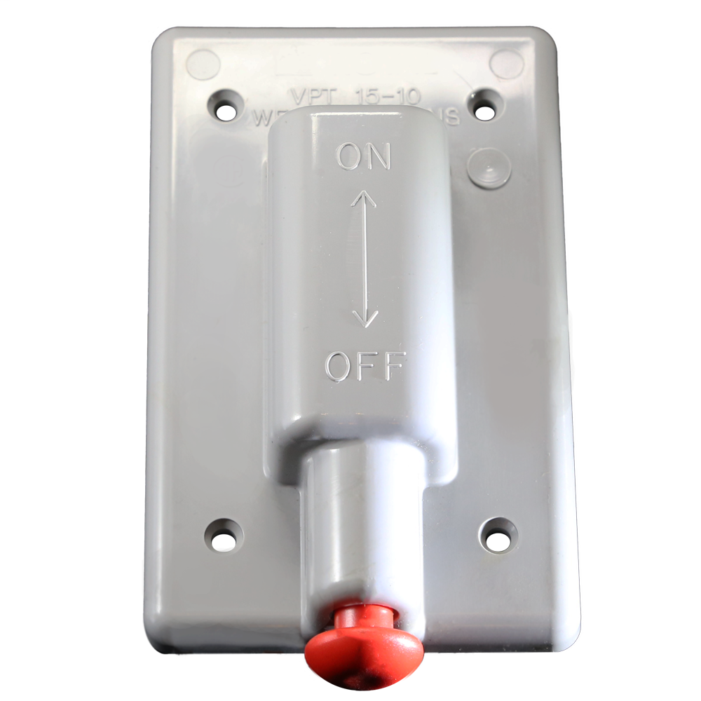 1-Gang Weatherproof Plunger Switch Cover