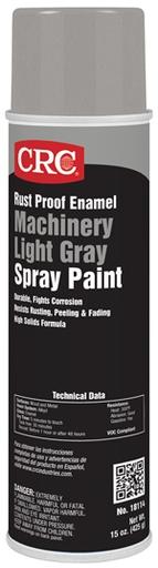 Rust Proof Enamel Spray Paint-Machinery Light Gray, 15 Wt Oz