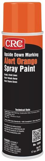 CRC 1005223 (18204) Upside Down Marking Spray Paint, Alert Orange, 17oz