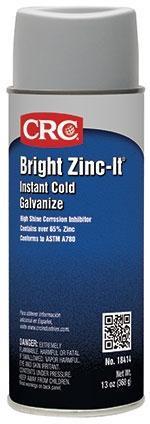 CRC 1005243 (18414) Bright Zinc-It Instant Cold Galvanize Corrosion Inhibitor 16oz Aerosol