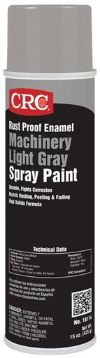 CRC 1005211 (18114) Rust Proof Enamel Spray Paint, Machinery Light Gray, 15oz Aerosol