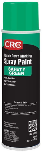 Clearly and effectively marks the location of underground utilities. Colors meet the A.P.W.A. One Call International Color Standards. Safe to use on turf grass, fields, and golf courses.