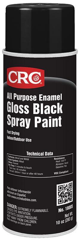 CRC Industries 18005 All Purpose Gloss Black Enamel Spray Paint