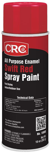 CRC 18000 10OZ RED ENML SPRAY PAINT