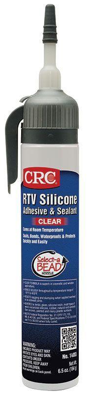CRC,14055,RTV Silicone Sealant - Clear 6.5 Wt Oz
